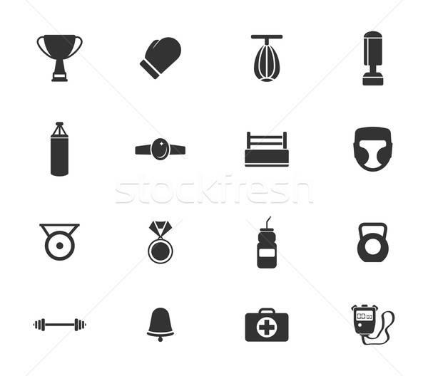 бокса просто иконки символ веб-иконы пользователь Сток-фото © ayaxmr