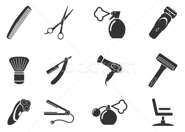 Barbershop simply icons Stock photo © ayaxmr