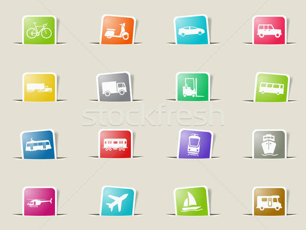 Transportation simply icons Stock photo © ayaxmr