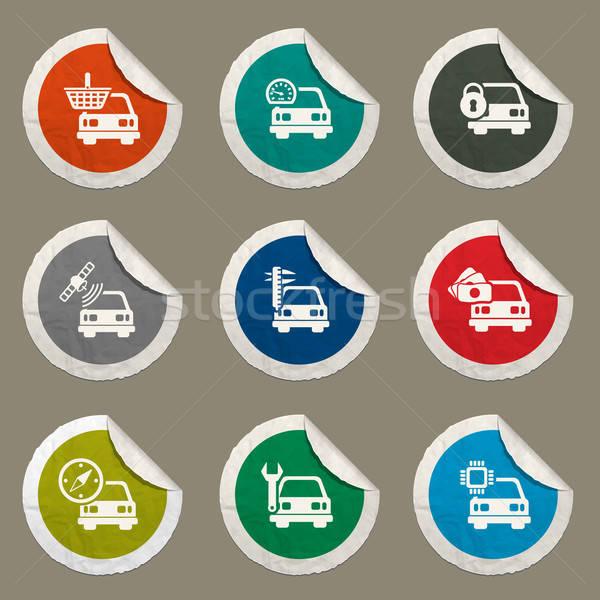 Stok fotoğraf: Araba · hizmet · sadece · simgeler · web