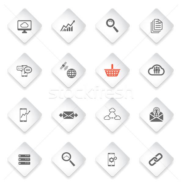 Adat analitikus egyszerűen ikonok szimbólumok webes ikonok Stock fotó © ayaxmr