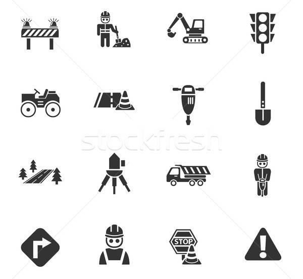 Weg web icons gebruiker interface ontwerp Stockfoto © ayaxmr