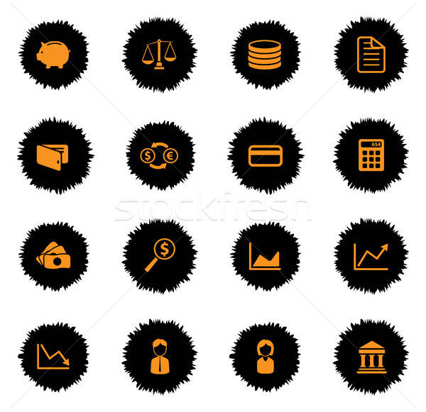 ストックフォト: 金融 · 単に · アイコン · ベクトル · ウェブ · ユーザー