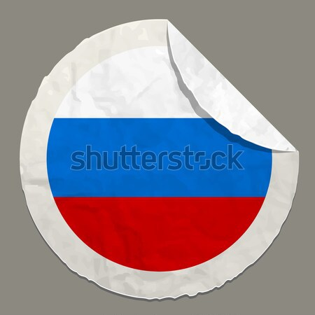 Russia flag on a paper label Stock photo © ayaxmr