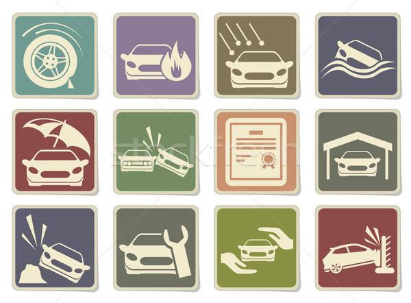 Car Insurance Icons Stock photo © ayaxmr