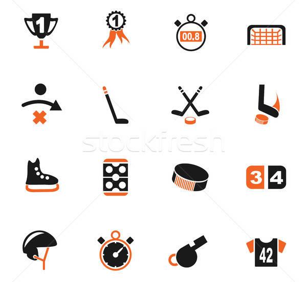 Hockey icone web utente interfaccia design Foto d'archivio © ayaxmr