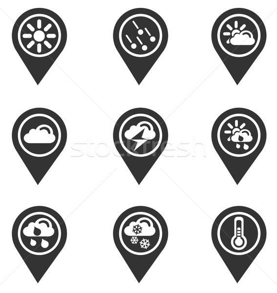 Weather map pointer Stock photo © ayaxmr