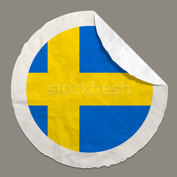 Sweden flag on a paper label Stock photo © ayaxmr