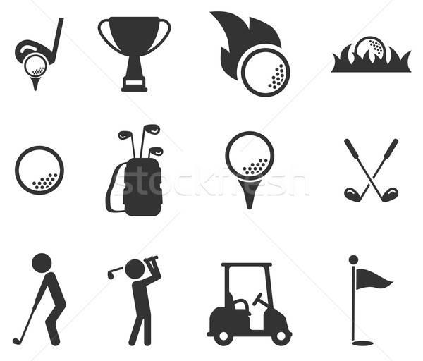 Golf simply icons Stock photo © ayaxmr