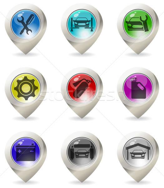 Kleur kaart vector web auto Stockfoto © ayaxmr