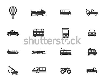 Transport types icons set Stock photo © ayaxmr