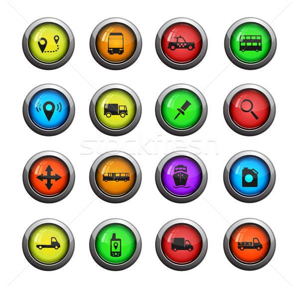 Navigation simply icons Stock photo © ayaxmr