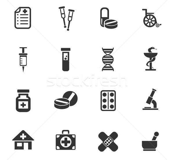 Farmacia iconos de la web usuario interfaz diseno Foto stock © ayaxmr
