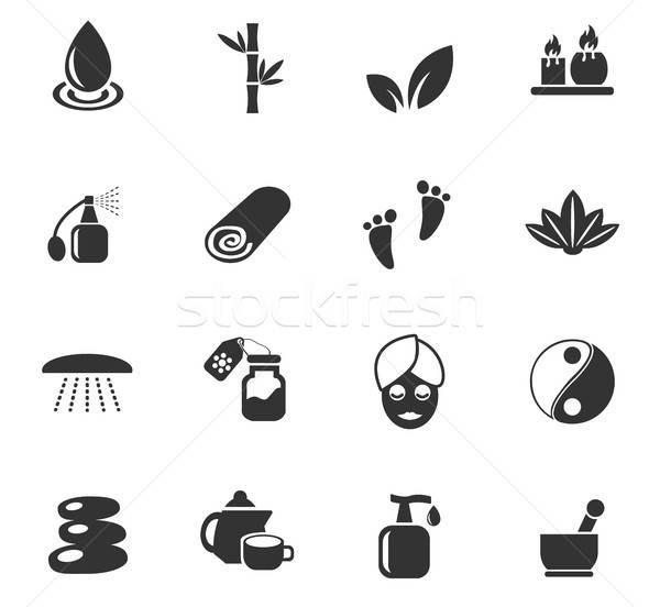 Szépségszalon ikon gyűjtemény webes ikonok felhasználó interfész terv Stock fotó © ayaxmr