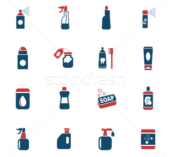 Casa produtos químicos os ícones do web usuário interface Foto stock © ayaxmr
