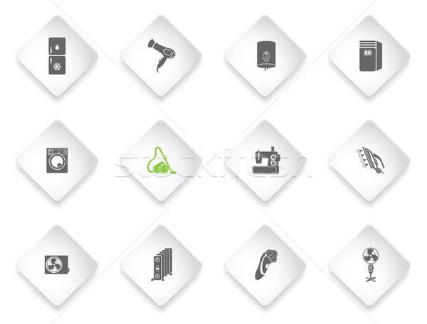 Home eenvoudig iconen symbolen web gebruiker Stockfoto © ayaxmr