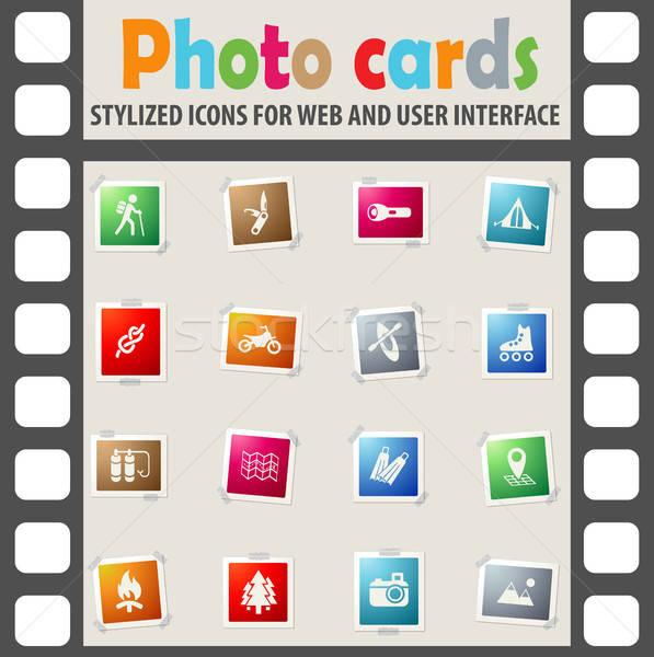 Attivo ricreazione icone web utente interfaccia Foto d'archivio © ayaxmr