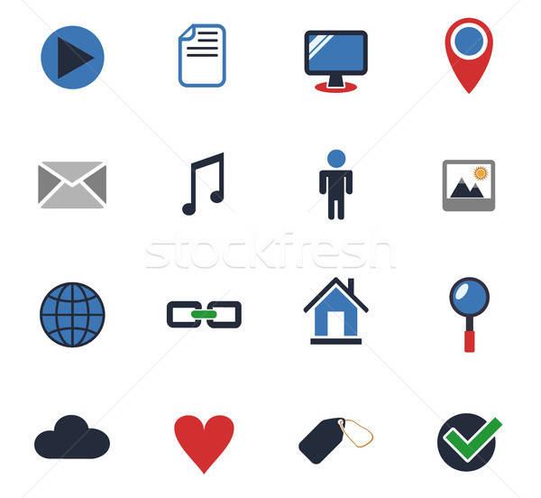 Icone web utente interfaccia design Foto d'archivio © ayaxmr