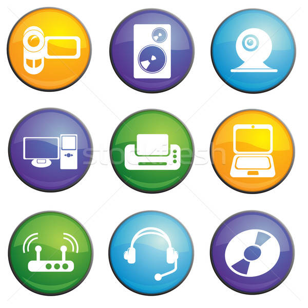 Computer icons set Stock photo © ayaxmr