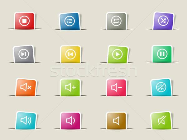 Media player icons Stock photo © ayaxmr