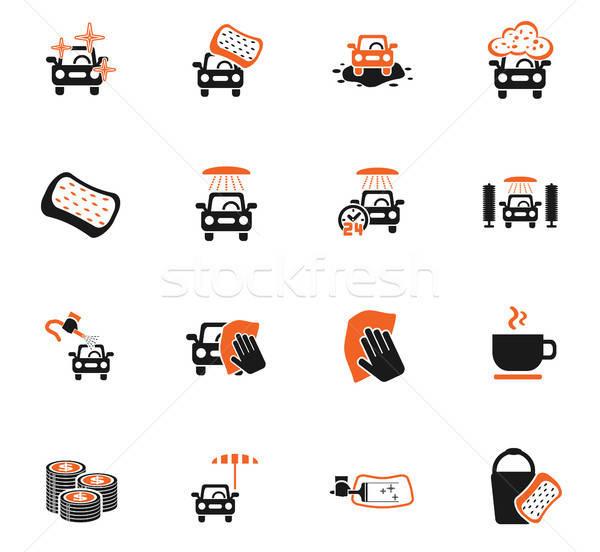 автомойку службе веб-иконы пользователь интерфейс Сток-фото © ayaxmr