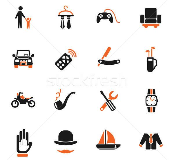 Padre día iconos de la web usuario interfaz Foto stock © ayaxmr
