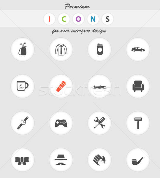 Dag eenvoudig iconen vector web gebruiker Stockfoto © ayaxmr