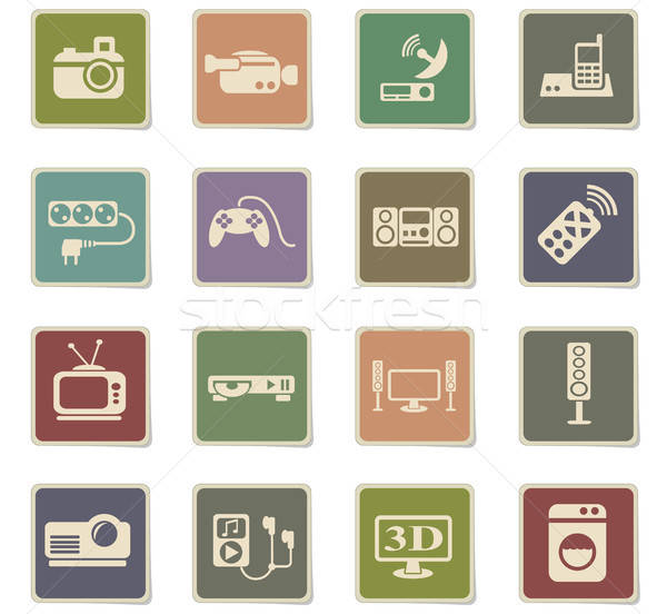 home appliances icon set Stock photo © ayaxmr