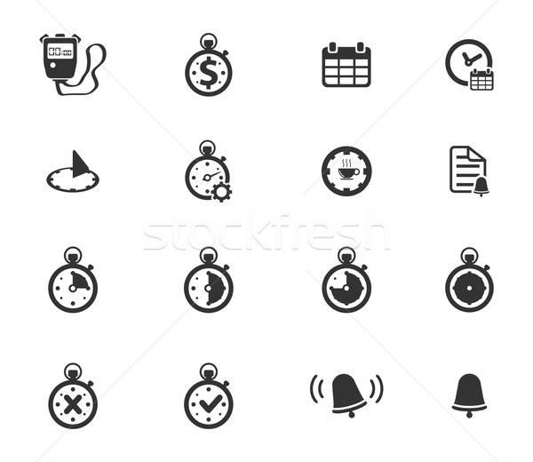 время просто иконки веб пользователь интерфейс Сток-фото © ayaxmr