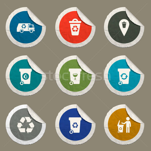 Garbage simply icons Stock photo © ayaxmr