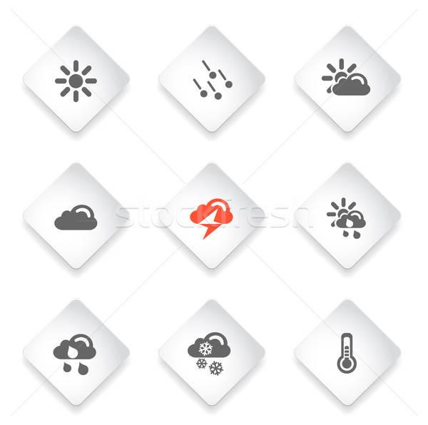 Weer eenvoudige vector iconen web gebruiker Stockfoto © ayaxmr