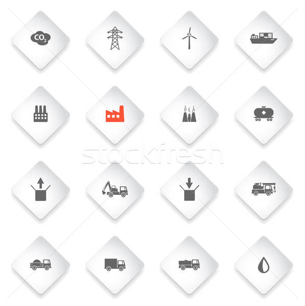 Industrial simply icons Stock photo © ayaxmr