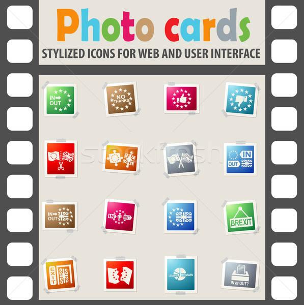 Stock fotó: Vektor · szimbólum · ikon · gyűjtemény · háló · háttér · felirat