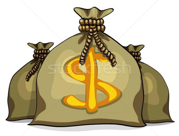 Cartoon полный деньги изолированный белый металл Сток-фото © ayaxmr