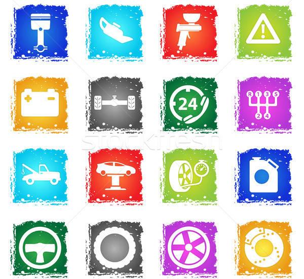 Car service simply icons Stock photo © ayaxmr