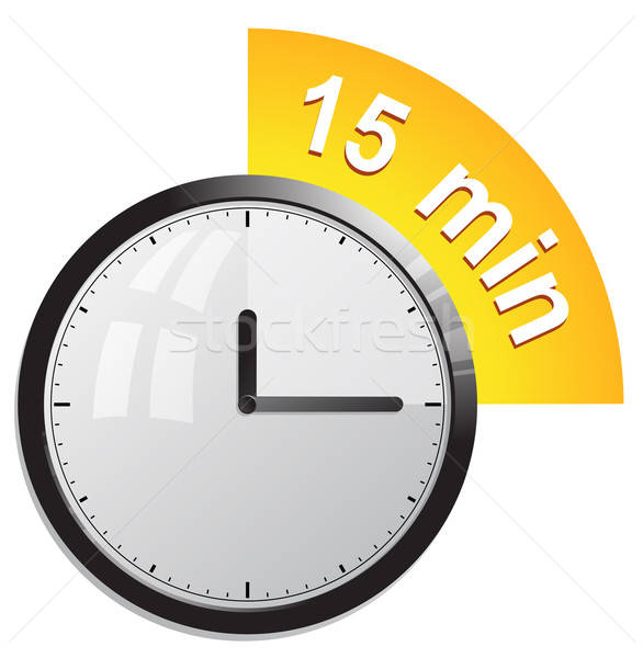 Timer 15 minutes vector illustration Stock photo © ayaxmr