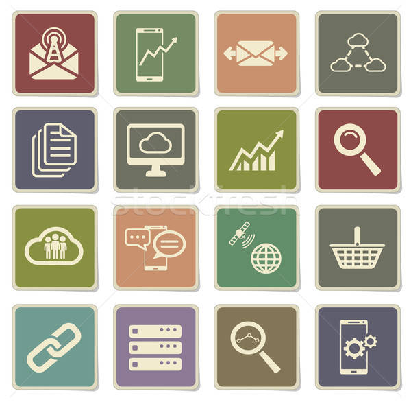 Data analytic simply icons Stock photo © ayaxmr