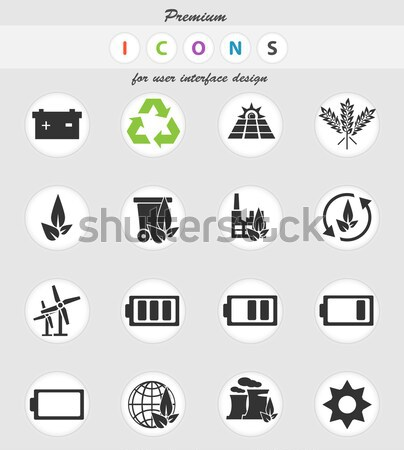Alternative energy icons Stock photo © ayaxmr