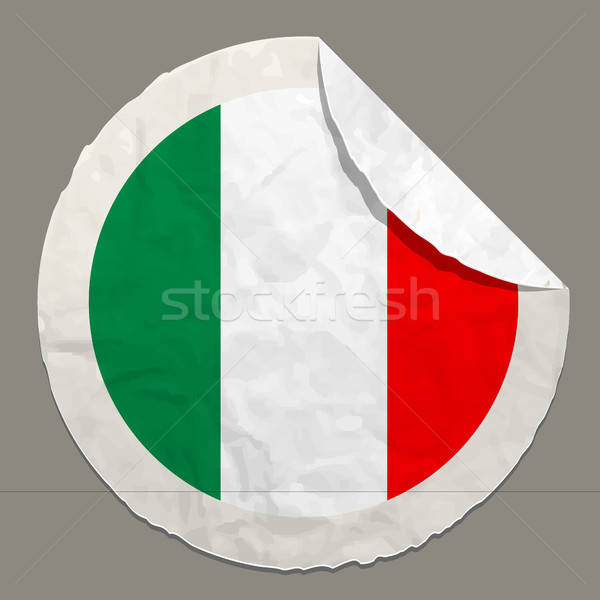 Italy flag on a paper label Stock photo © ayaxmr