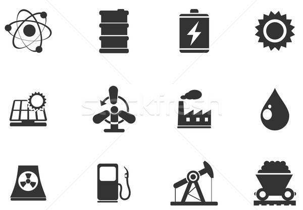 Icon Set, Energy and Industry Stock photo © ayaxmr