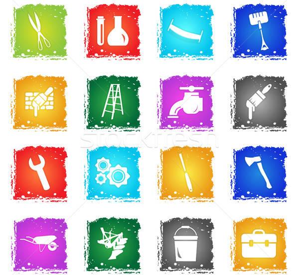 Stock photo: work tools icon set
