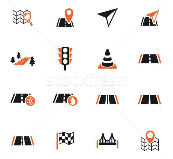 Estrada os ícones do web usuário interface projeto Foto stock © ayaxmr