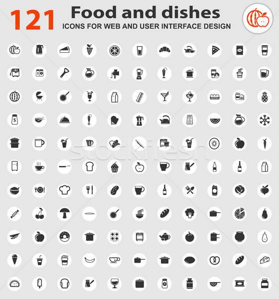 food icon set Stock photo © ayaxmr
