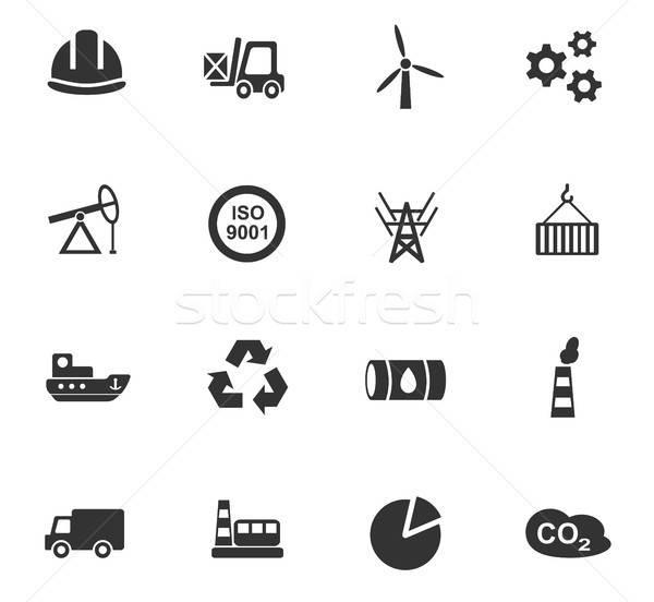 Stock foto: Industrie · Web-Icons · Benutzer · Schnittstelle · Design