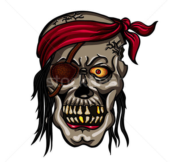Danger pirate skull in red bandane Stock photo © ayaxmr