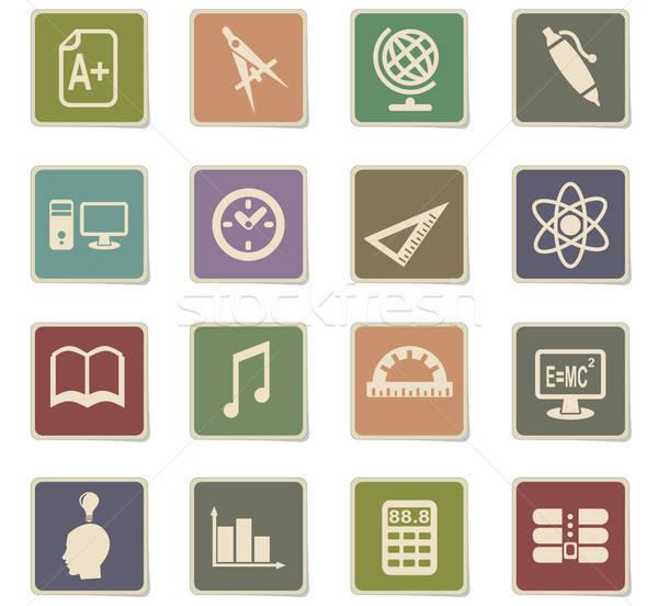 education icon set Stock photo © ayaxmr