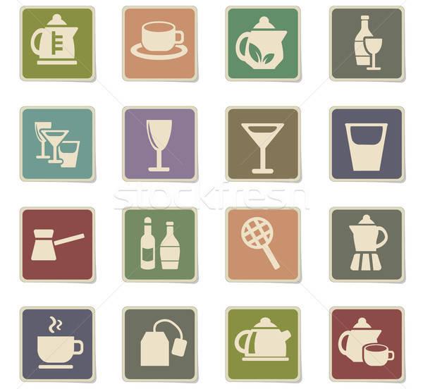 напитки веб-иконы пользователь интерфейс Сток-фото © ayaxmr