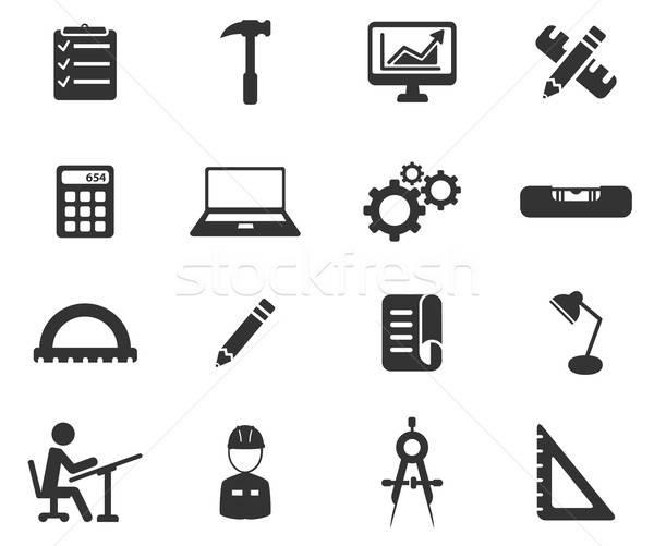 инженерных просто иконки символ веб-иконы пользователь Сток-фото © ayaxmr
