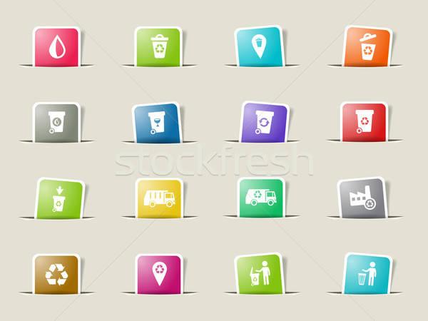 Garbage simply icons Stock photo © ayaxmr