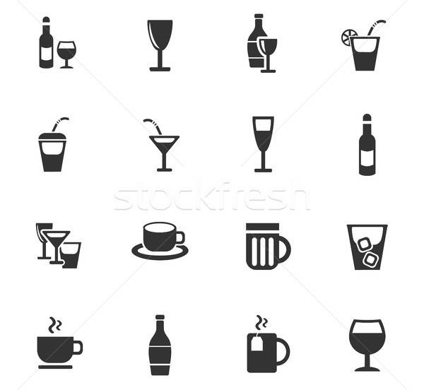 Bril web icons gebruiker interface ontwerp Stockfoto © ayaxmr